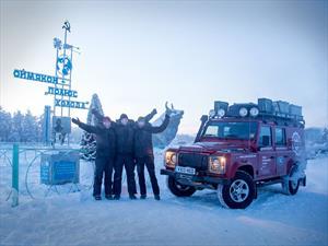 Land Rover Defender aguanta 55° bajo cero