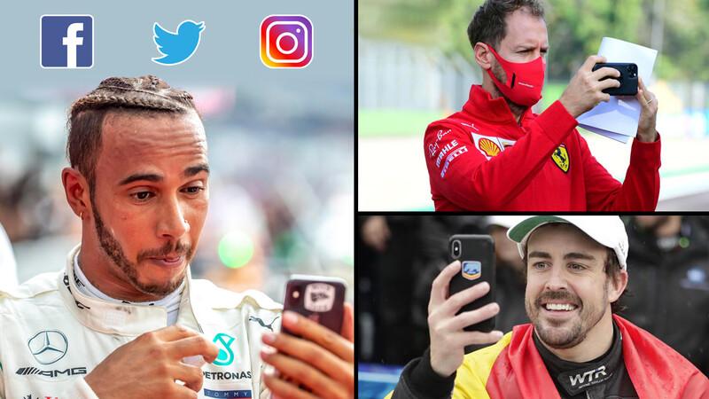 ¿Cuál piloto de F1- 2021 es campeón en las redes sociales?