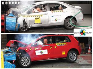 Los VW Golf y Toyota Corolla alcanzan 5 estrellas en Latin NCAP
