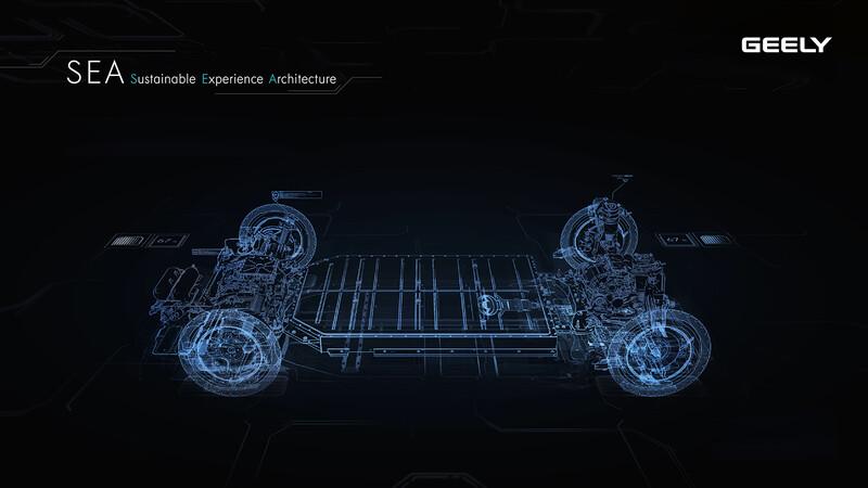 Geely desarrolla una nueva plataforma modular para autos eléctricos