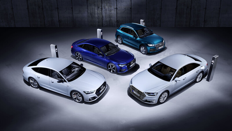 Audi confirma versiones plug-in hybrid para buena parte de su gama