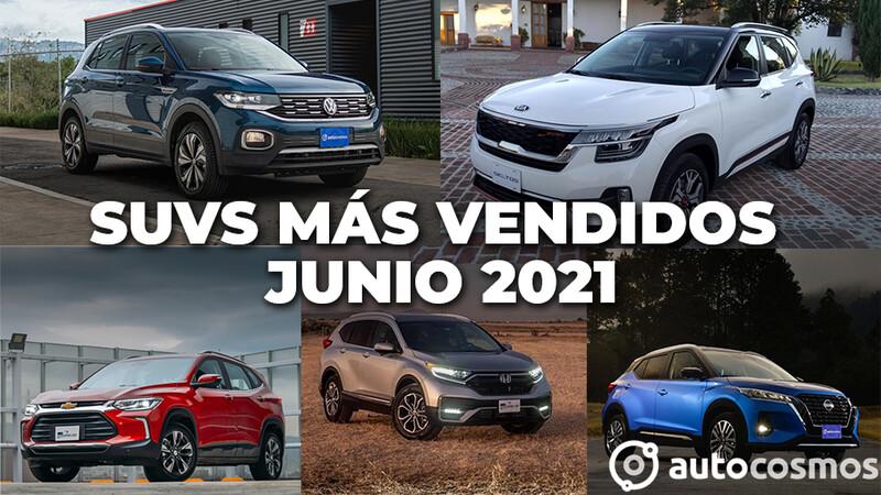 Los 10 SUVs más vendidos en junio 2021