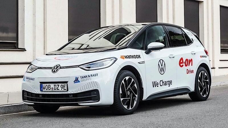 Volkswagen ID.3 rompe el récord del viaje continuo más largo con un auto eléctrico en un solo país
