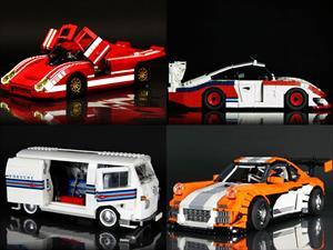 Increibles Porsche construidos con piezas de LEGO