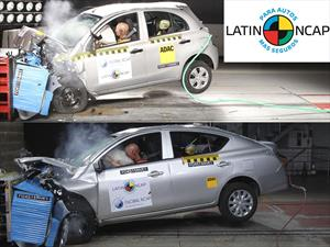 Nissan March y Versa son 4 estrellas en Latin NCAP