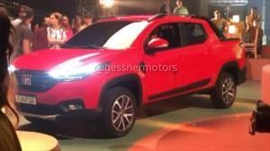 Pillaron a la nueva Fiat Strada en grabaciones publicitarias