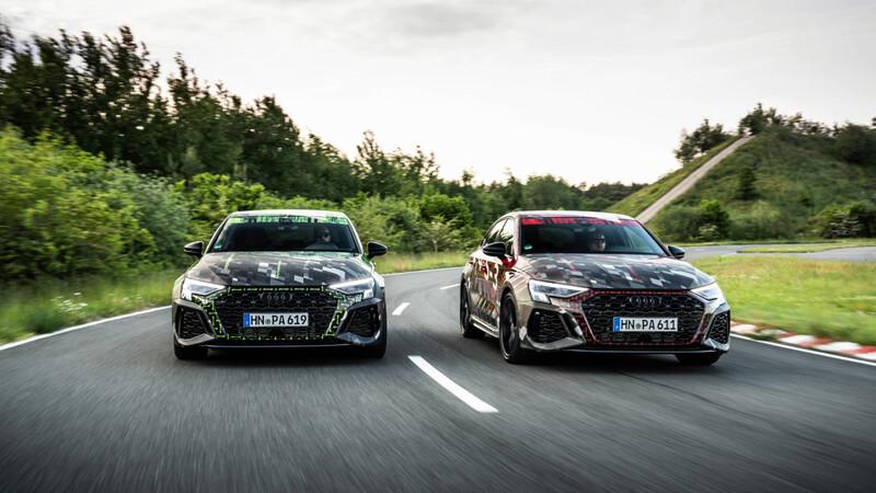 El próximo Audi RS 3 estira las piernas y devela ciertos secretos