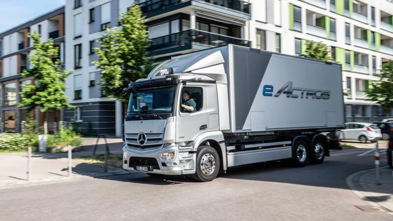 Mercedes-Benz eActros, el primer camión eléctrico de la marca alemana