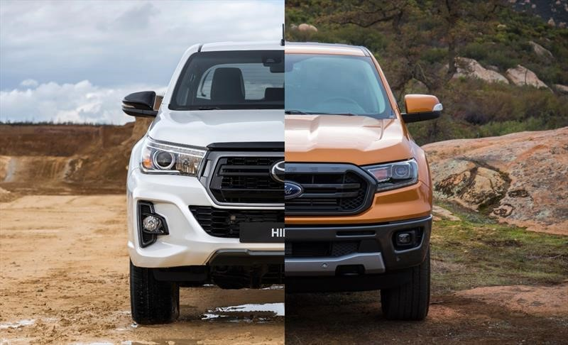 Toyota Hilux 2020 vs Ford Ranger 2020, capaces dentro y fuera del camino