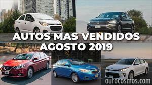 Los 10 autos más vendidos en agosto 2019