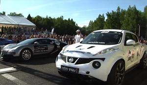 Video: Nissan Juke-R le corre una picada a un Bugatti Veyron