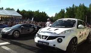 Video: Nissan Juke-R vs Bugatti Veyron