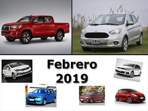 Los 10 autos más vendidos en Argentina en febrero de 2019