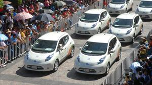 Nissan LEAF todo un éxito en la Feria de San Marcos 2012