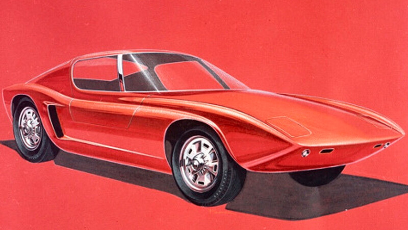 Primeros bocetos del mítico Ford GT40
