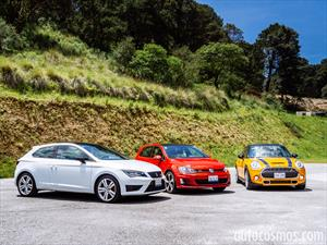 Comparativa Hot Hatches: MINI Cooper S vs SEAT León Cupra vs VW Golf GTI