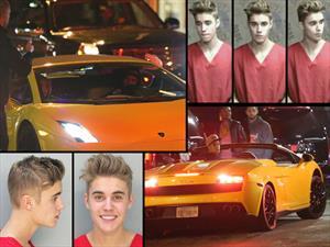 Justin Bieber es arrestado por conducir borracho y drogado en un Lamborghini Gallardo