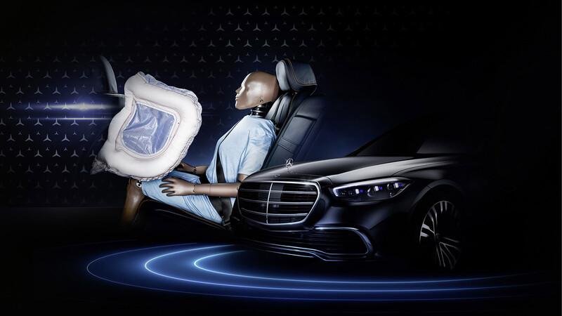 El Mercedes-Benz Clase S 2021 equipará las primeras bolsas de aire frontales para plazas traseras