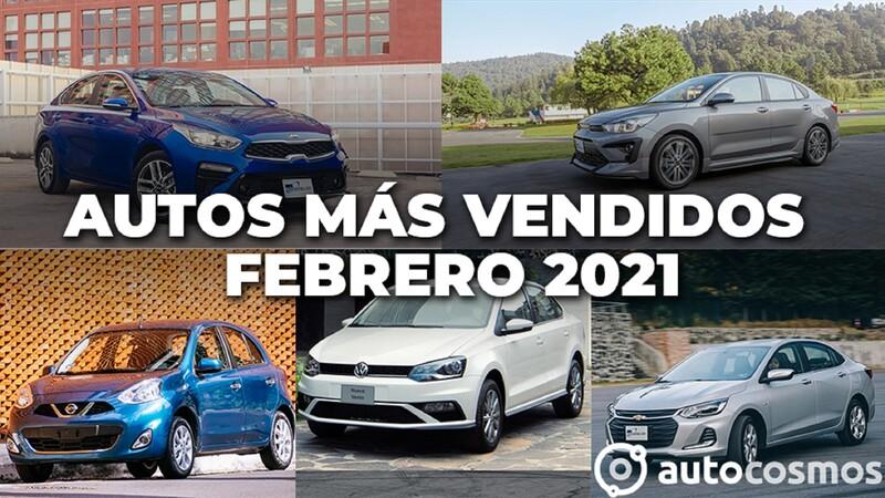 Los 10 autos más vendidos en febrero 2021