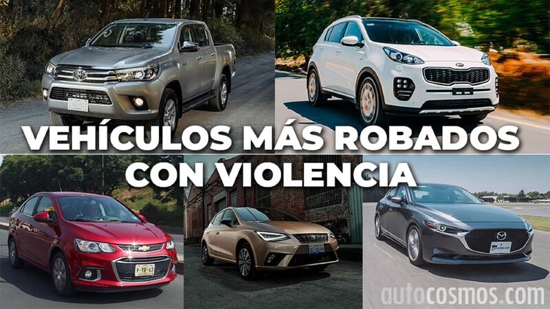Los autos más robados con violencia de noviembre 2019 a octubre 2020 en México