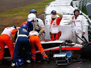 F1: GP de Japón, Hamilton gana y Bianchi se accidenta gravemente