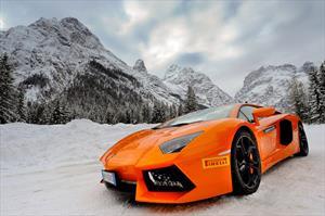 Lamborghini Winter Academy 2015, toros en la nieve