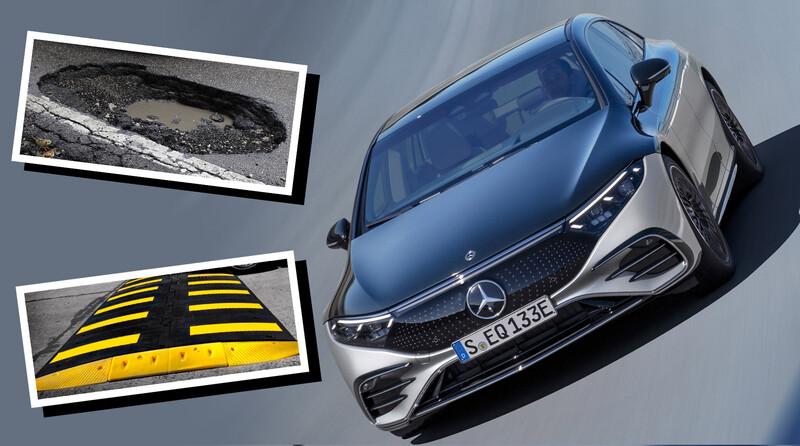 Los Mercedes-Benz avisarán cuando detecten baches y reductores