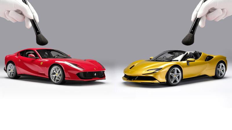 Estas Ferrari a escala cuestan casi como un auto nuevo