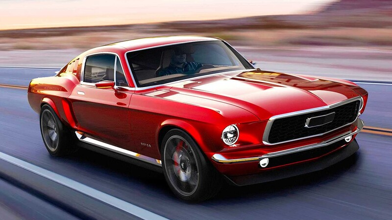 Aviar R67 es un Mustang 1967 con el poderío eléctrico del Tesla Model S