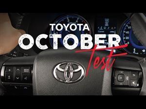 """Toyota quiere que manejes en el """"October Test"""""""