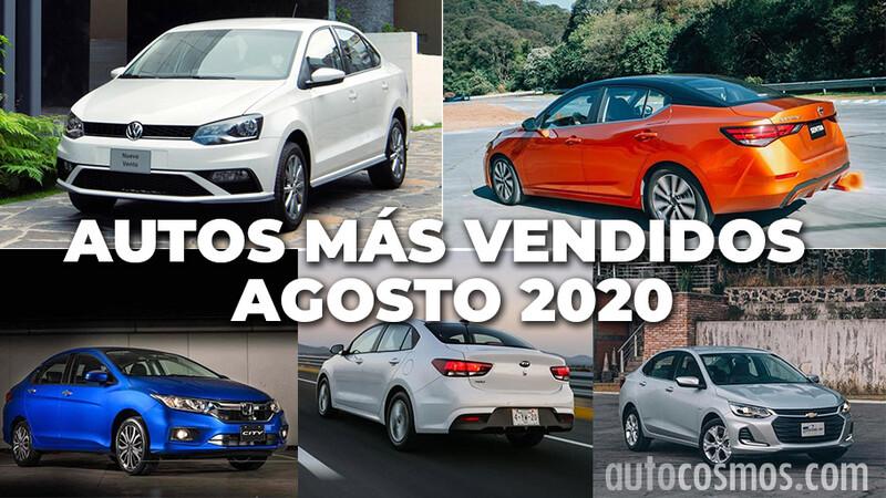 Los 10 autos más vendidos en agosto 2020