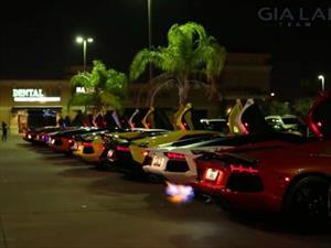 Video: Así se escuchan 11 Lamborghini Aventador al mismo tiempo