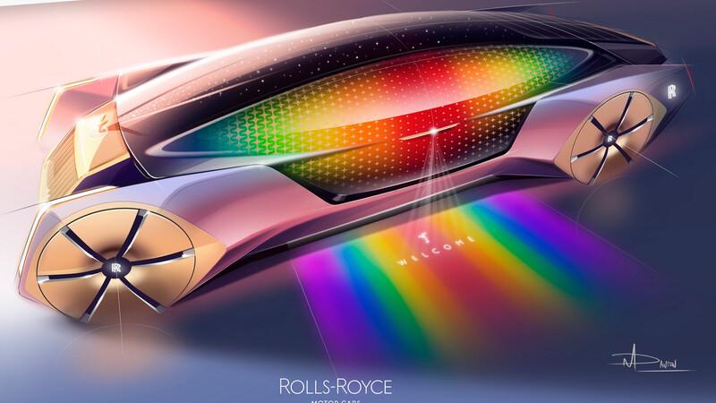 Rolls-Royce invitó a niños y niñas de todo el mundo a dibujar los autos del futuro