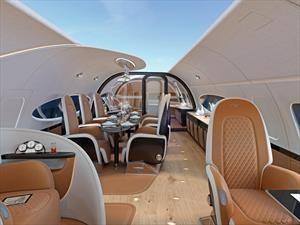 Pagani diseña el lujoso interior de un jet Airbus