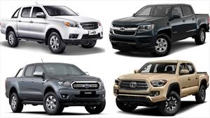 Todas las pickups medianas que se venden en México en 2019