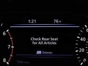 Rear Door Alert, el sistema de Nissan que avisa si olvidamos algo en el asiento trasero