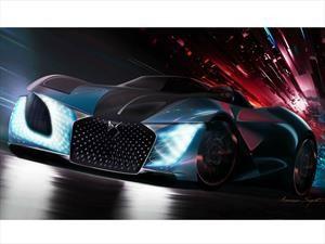 DS X e-Tense, un auto del año 2035 que viaja al pasado