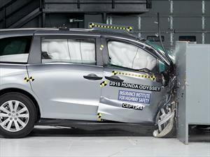 Honda Odyssey gana el Top Safety Pick en las pruebas de impacto del IIHS