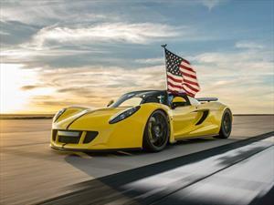 El Hennessey Venom GT Spyder es el descapotable más rápido