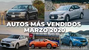 Los 10 autos más vendidos en marzo 2020