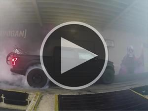 Video: Ken Block quema caucho con la Ford F-150 Raptor