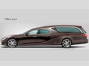 Un Maserati Ghibli convertido en carroza fúnebre