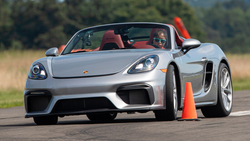 Porsche 718 Spyder impone nuevo Récord Guinness en prueba de slalom