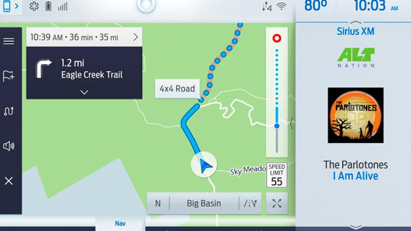 Nuevo navegador de Ford ofrece rutas únicas para remolque y 4x4