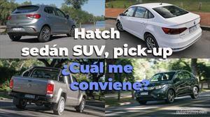 Hatchback, sedán, SUV, pick-up ¿Cuál me conviene?