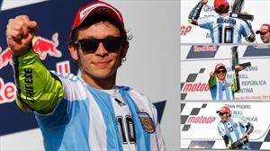 El día que Valentino Rossi fue Diego Maradona