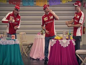 Scudería Ferrari toma clases de mexicano para el GP de México