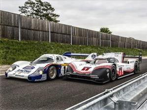 Porsche 919 Hybrid y 956 C juntos en la pista de Nürburgring