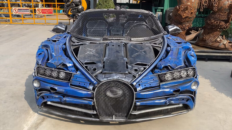 ¿Querés un Bugatti Chiron y no tenés plata? Hacelo con chatarra