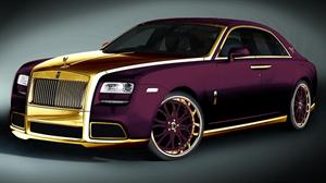 Rolls Royce Ghost Purple by Fenice Milano, con elementos en oro de 24k